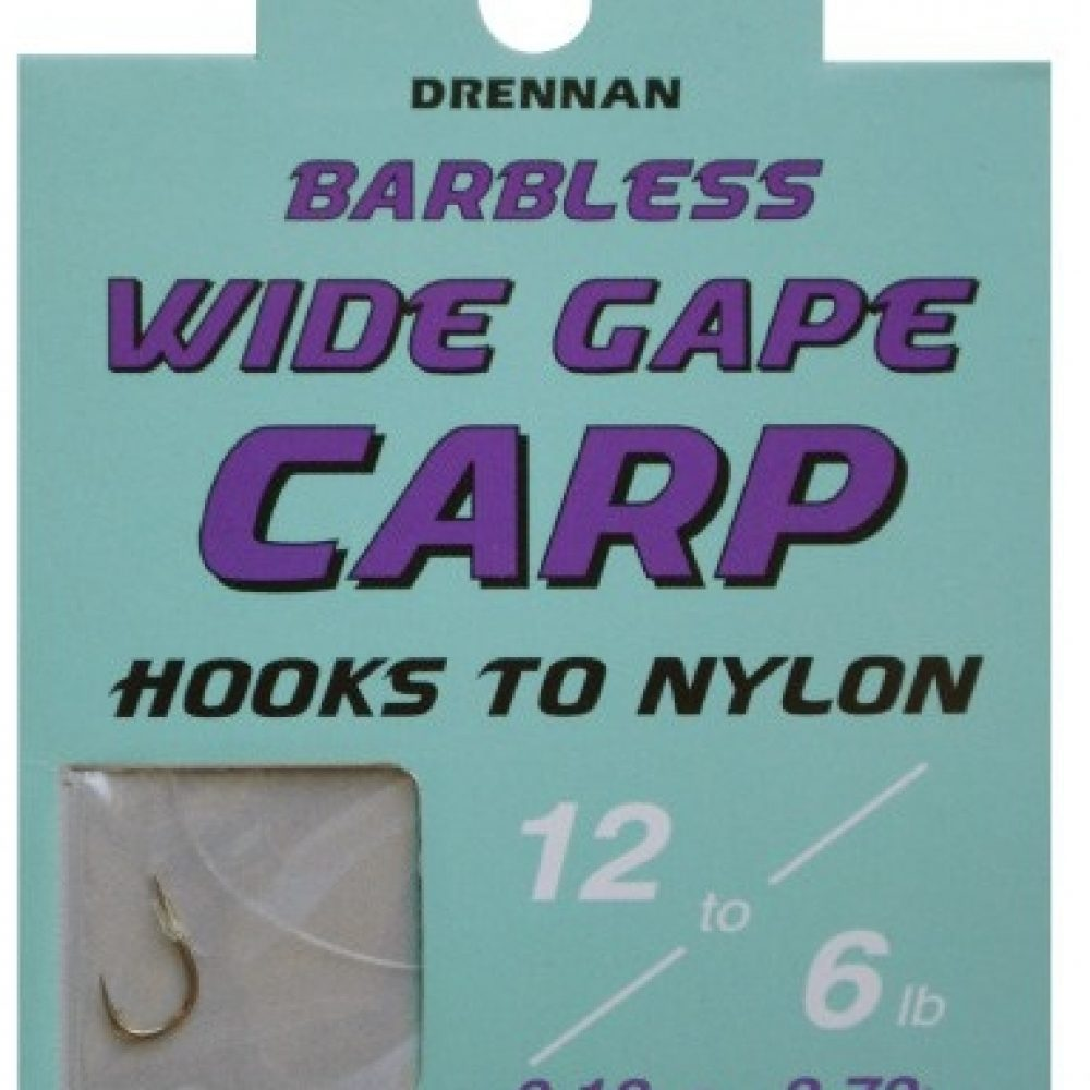PRESON INNOVATIONS EXTRA STRONG CARP BARBLESS HOOKS TO NYLON SIZE 14S