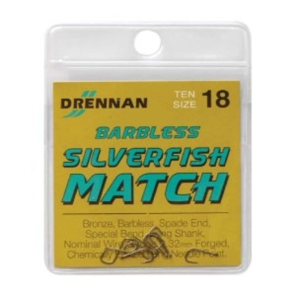 DRENNAN  fine wire forged   sz.22 MATCH HOOKS BOXES OF 25.
